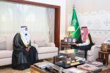 نائب أمير الشرقية يستقبل مدير فرع المركز الوطني للرقابة على الالتزام البيئي بالمنطقة