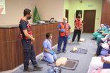 فرع الهلال الأحمر بالباحة ينفذ ٢٩ برنامج تدريبي لمنسوبي الهيئه والمجتمع